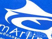 Синие толстовки с логотипом в виде рыбы
