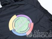 Черные куртки с логотипом «ЕДА В СТАКАНЕ»