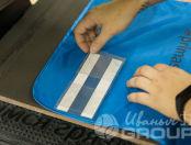 Синие светоотражающие жилеты с логотипом и хештегом «#PRIMASCHOOL»
