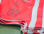 Красные сигнальные жилеты с логотип «БК ХИМ»