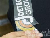Черные футболки с логотипом «J DETECTOR GROUP»