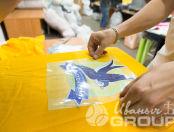 Желтые футболки с логотипом «ЛАСТОЧКА»