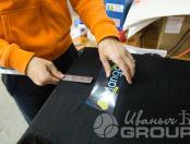 Черные футболки с надписью «МАНГО»