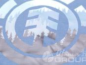 Голубые свитшоты с логотипом «ELEMENT»