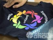 Черные футболки с логотипом «ВИРТУОЗ»