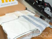 Белые сигнальные жилеты с логотипом «Algeco»