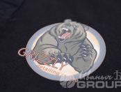 Черные футболки-поло с логотипом и надписью «Шиномонтаж»