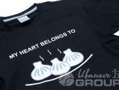 Черная футболка с изображением «MY HEART BELONGS TO»