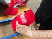 Красные бейсболки с логотипом «ММЗ Авангард»