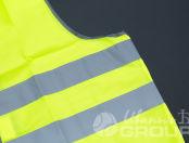 Желтые сигнальные жилеты с логотипом «MUSTANG PROFESSIONAL»