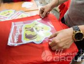 Красные ветровки с логотипом «ПЕТВИЛЬ»
