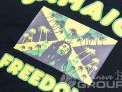 Черная футболка с изображением «Jamaica Freedom»