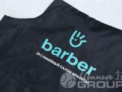 Черные фартуки с логотипом «Barber»