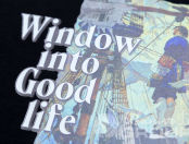Черные футболки с изображением «Window in to Good life»