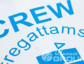 Футболка-поло с логотипом «CREW»