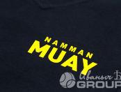 Черные футболки с текстом «NAMMAN MUAY»
