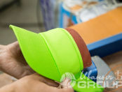 Зеленые козырьки с логотипом «ЭЛИКА»