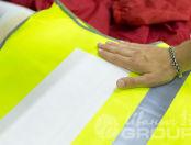 Сигнальные жилеты с логотипом «ЭЛЕЗА»