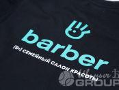 Черные платья с логотипом «Barber»