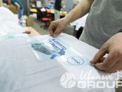 Белые толстовки с логотипом «IN CRYPTO WE TRUST»