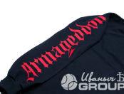 Черные свитшоты с надписью «ARMAGEDDON»