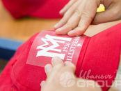 Красные бейсболки с логотипом «Millstream»