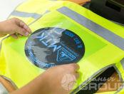 Желтые сигнальные жилеты с логотипом «МТК»