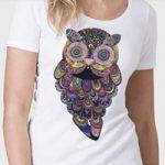 Разноцветная сублимационная печать принтов на футболках