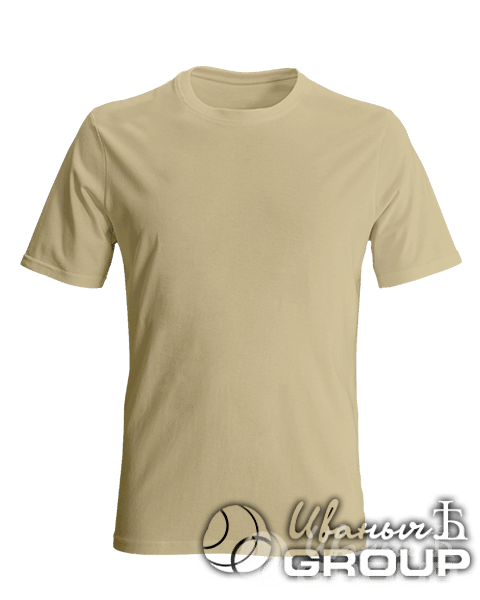 Бежевая мужская футболка