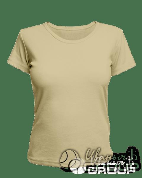 Бежевая женская футболка для беременных