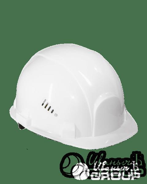 Белая строительная каска