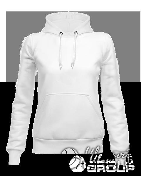 Белое худи женское