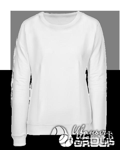 Белый свитшот женский