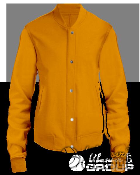 Оранжевый бомбер женский