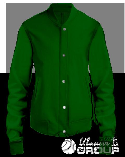 Темно-зеленый бомбер женский