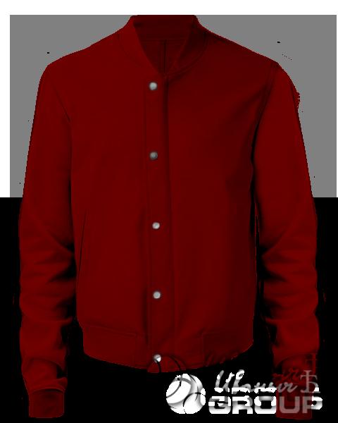 Бордовый бомбер мужской