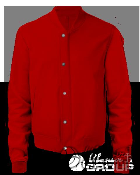 Красный бомбер мужской