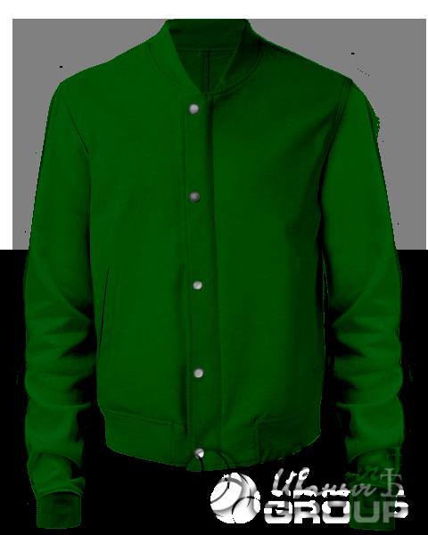 Темно-зеленый бомбер мужской