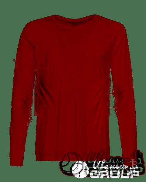 Бордовый лонгслив на заказ