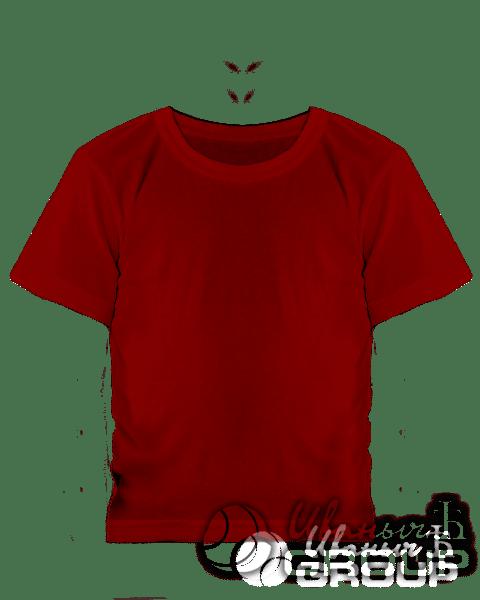 Бордовая детская футболка