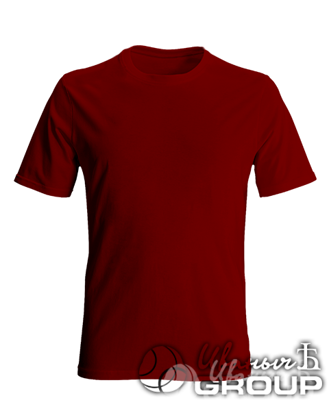 Бордовая футболка