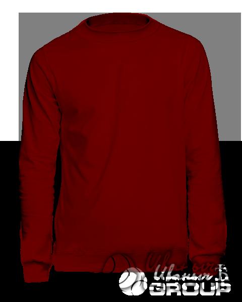 Бордовый свитшот мужской