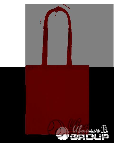 Бордовая сумка холщевая