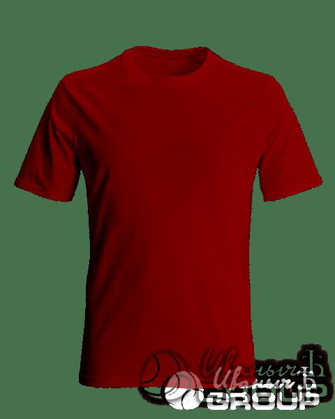 Бордовая мужская футболка