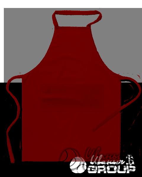 Бордовый фартук