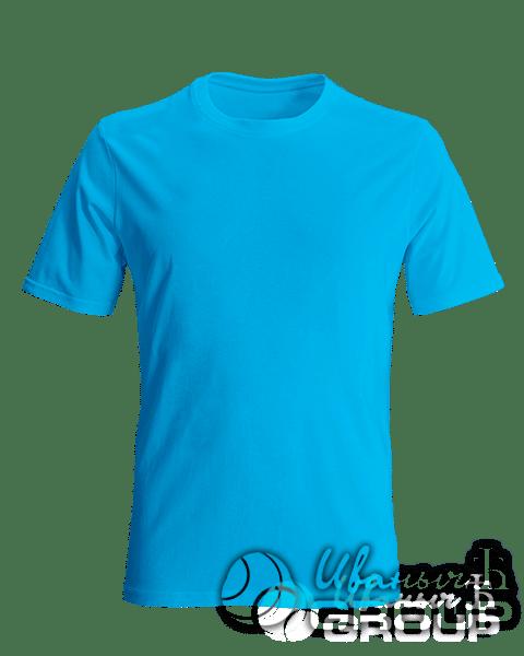 Голубая футболка на заказ