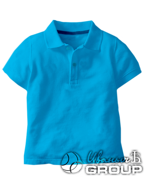 Голубое поло детское