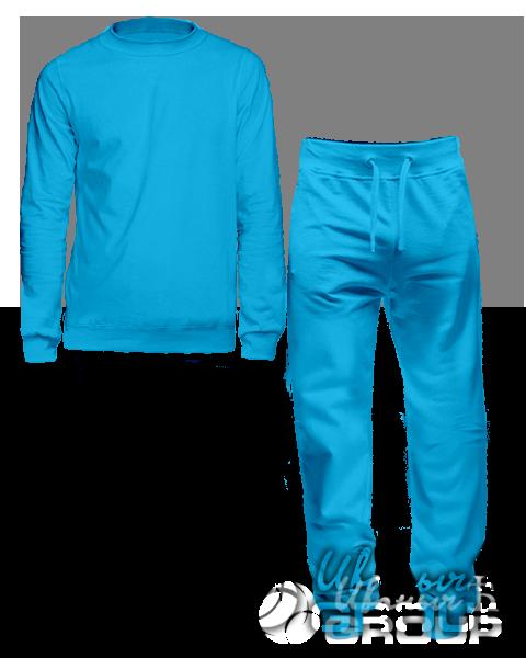 Голубой костюм мужской
