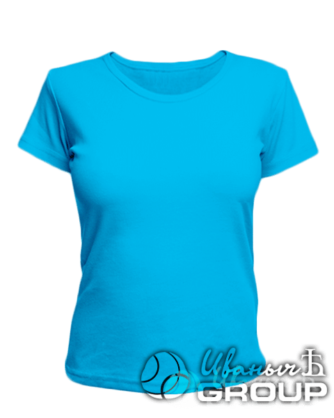 Голубая женская футболка