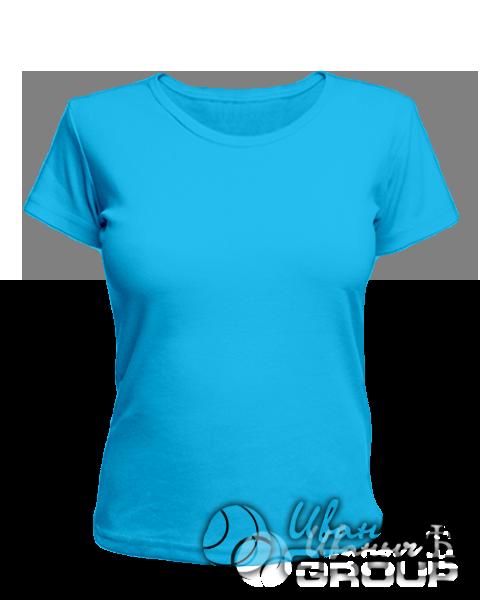 Голубая женская футболка для беременных